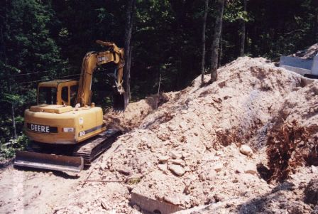 Installing the septic system