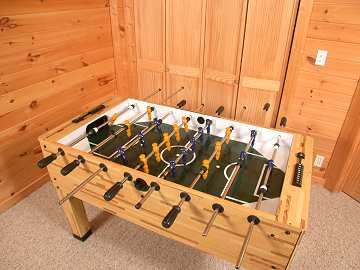Foosball table in the games room