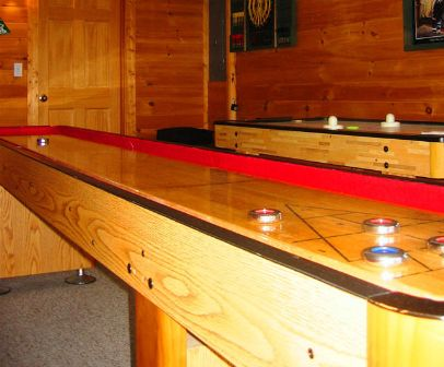 Shuffleboard table in the games room